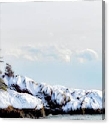 Crow Island, Winter Light Canvas Print by Michael Hubley