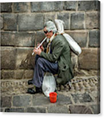 Cusco Man Canvas Print by Jon Exley