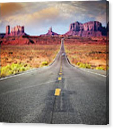 Desert Drive Canvas Print by Scott Kemper