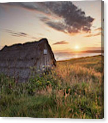 Drying Hut - Freshwater West Canvas Print by Elliott Coleman