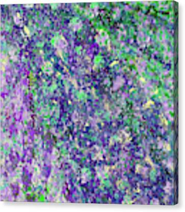 Purple And Green Cascade Canvas Print by Corinne Carroll