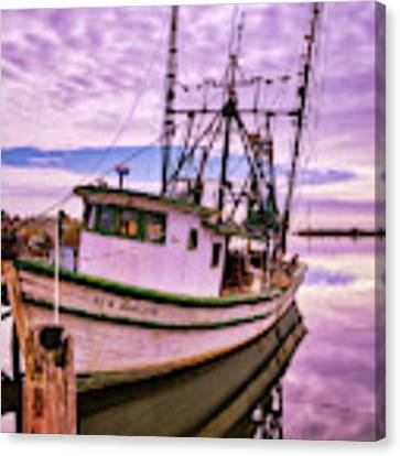 Florida Panhandle Fishing Boat Canvas Print by Mel Steinhauer