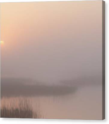 Foggy Sunrise At Cheyenne Bottoms -01 Canvas Print by Rob Graham