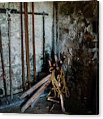 Fort Tools Canvas Print by Judy Hall-Folde