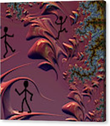 Frolicking In Fractal Land Canvas Print by Shelli Fitzpatrick