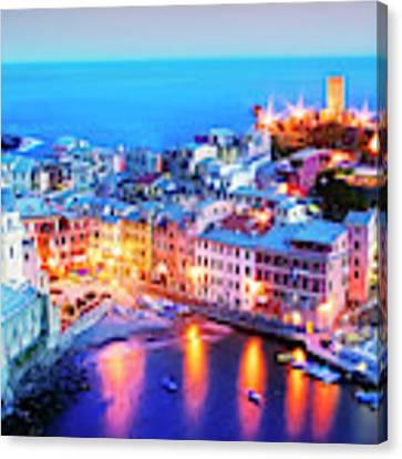 Glowing Vernazza Canvas Print by Scott Kemper