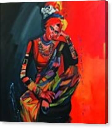 Goddess Of Colors Canvas Print by Nizar MacNojia