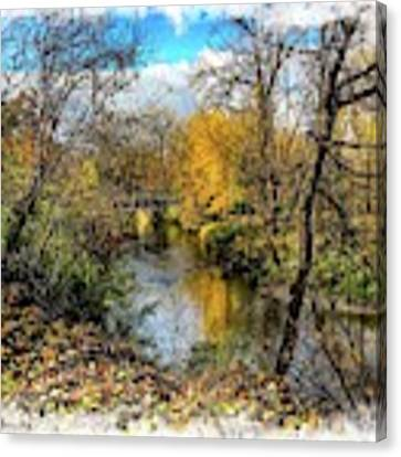 Graphic Colors On The Clinton River Img_4055 Canvas Print by Michael Thomas