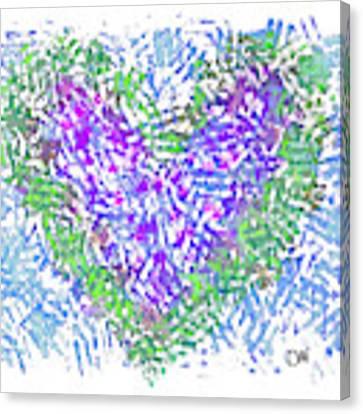 Heart 1008 Canvas Print by Corinne Carroll