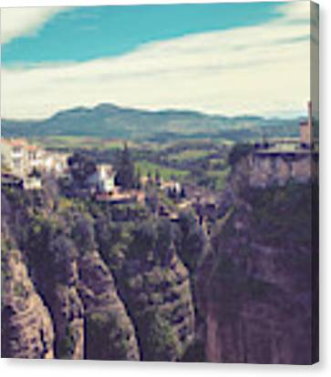 historical village of Ronda, Spain Canvas Print by Ariadna De Raadt
