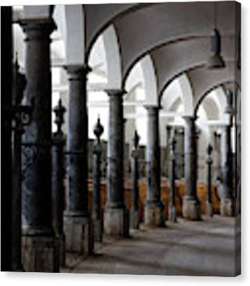 Horse Stalls Of The Royal Stables In Copenhagen Denmark Canvas Print by William Dickman