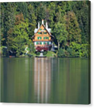 House On The Lake Canvas Print by Davor Zerjav
