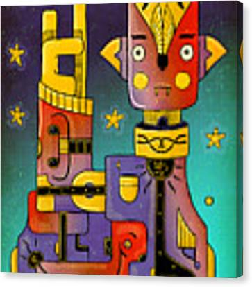 I Come In Peace - Heavy Metal Canvas Print by Sotuland Art