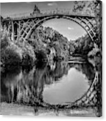 Iron Bridge Shropshire  Canvas Print by Adrian Evans