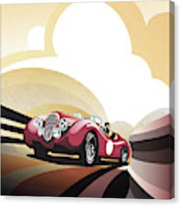 Jaguar Xk 120 Canvas Print by Sassan Filsoof