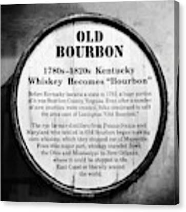 Kentucky Bourbon History Canvas Print by Mel Steinhauer