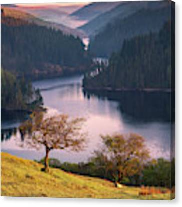 Llyn Brianne Sunrise Canvas Print by Elliott Coleman
