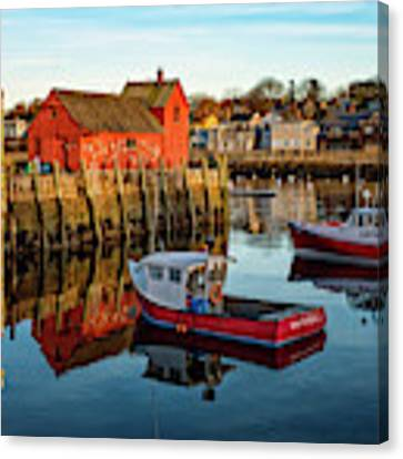 Lobster Traps, Lobster Boats, And Motif #1 Canvas Print by Jeff Sinon