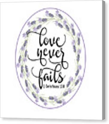 Love Never Fails' Canvas Print by Judy Hall-Folde