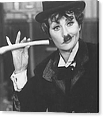 Lucille Ball Dressed As Charlie Chaplin Canvas Print by Ralph Crane