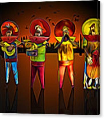 Mariachis Canvas Print by Paul Wear