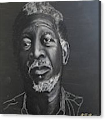 Morgan Freeman Canvas Print by Richard Le Page