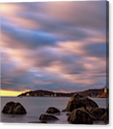 Morning Glow, Stage Fort Park. Gloucester Ma. Canvas Print by Michael Hubley