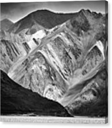 Mountains At Pangong Canvas Print by Whitney Goodey