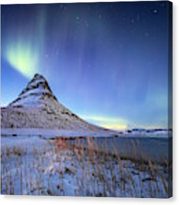 Northern Lights Atop Kirkjufell Iceland Canvas Print by Nathan Bush