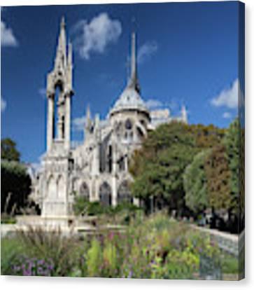 Notre Dame Garden Canvas Print by Jemmy Archer