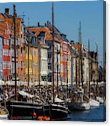 Nyhavn Waterfront In Copenhagen II Canvas Print by William Dickman