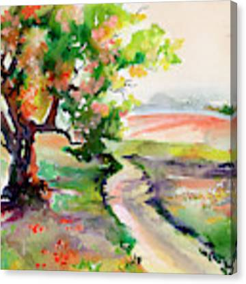 Oak Tree Landscape Path Home  Canvas Print by Ginette Callaway