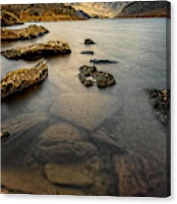Ogwen Lake Snowdonia Canvas Print by Adrian Evans