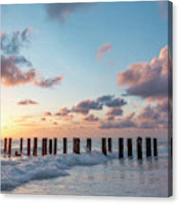 Old Pier Pilings II Canvas Print by Brian Jannsen