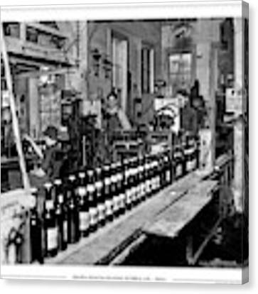Olympia Brewing Company Bottling Line, 1920ca Canvas Print by Joe Jeffers