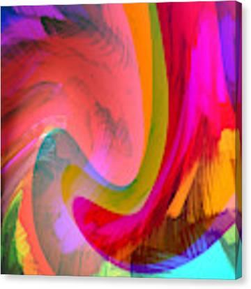 Original Fine Art Digital Abstract Warp10c Scaled Red. Canvas Print by G Linsenmayer
