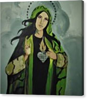 Our Lady Of Veteran Suicide Canvas Print by MB Dallocchio