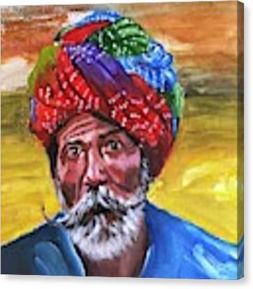 Pagdi Canvas Print by Nizar MacNojia
