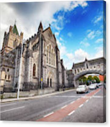 panorama of The Cathedral of Dublin Canvas Print by Ariadna De Raadt