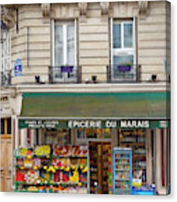 Paris Corner Grocery Canvas Print by Brian Jannsen