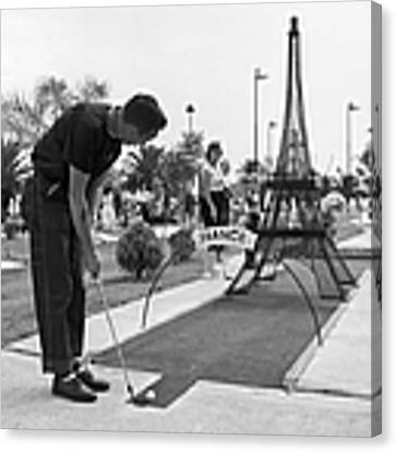 Paris Golf Canvas Print by Three Lions
