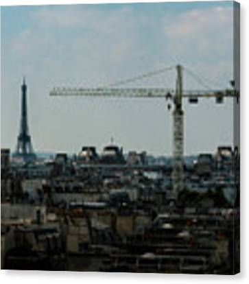 Paris Towers Canvas Print by Juan Contreras