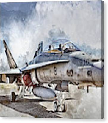 Parked Hornet Canvas Print by Brad Allen Fine Art