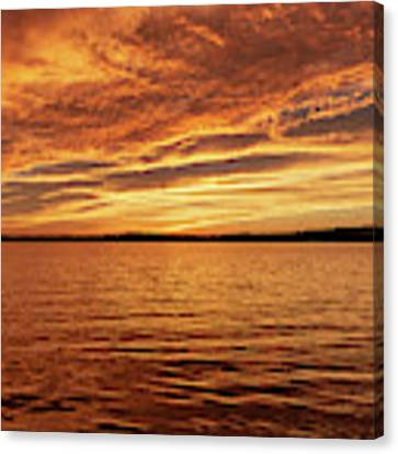 Percy Priest Lake Sunset Canvas Print by D K Wall