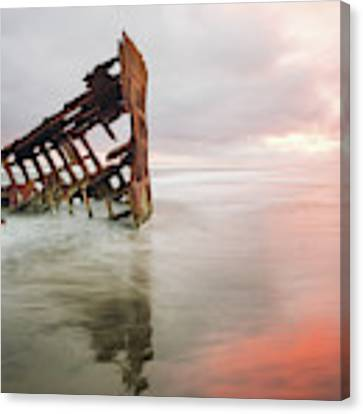 Peter Iredale Shipwreck Canvas Print by Nicole Young