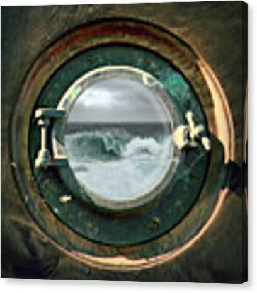Porthole View Canvas Print by Micki Findlay