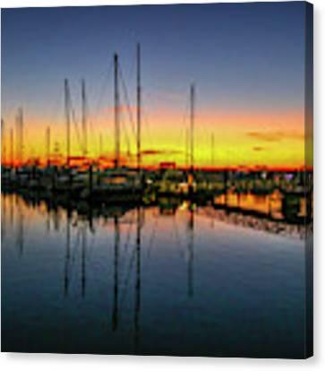 Pre-dawn Marina Colors Canvas Print by Tom Claud