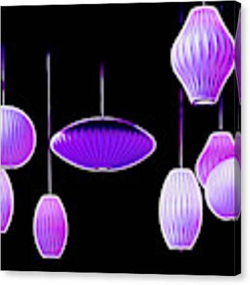 Purple Hanging Lights Canvas Print by Mel Steinhauer