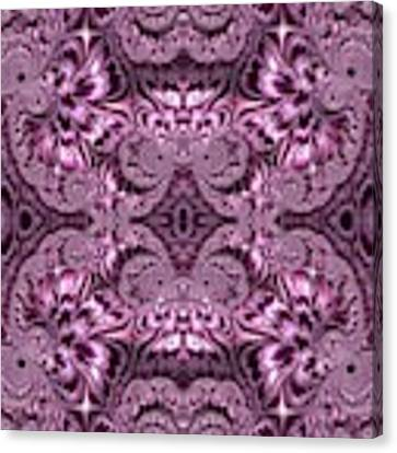 Purple Lilac Gardens And Reflecting Pools Fractal Abstract Canvas Print by Rose Santuci-Sofranko