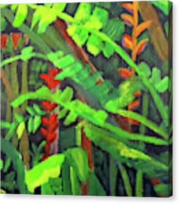 Rain Forest Memories Canvas Print by Linda Feinberg
